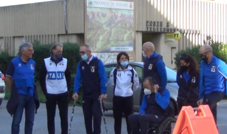 Pineto, gli atleti della Nazionale Paralimpica di Ciclismo sul palco per la Settimana Paralimpica NOSTRO SERVIZIO