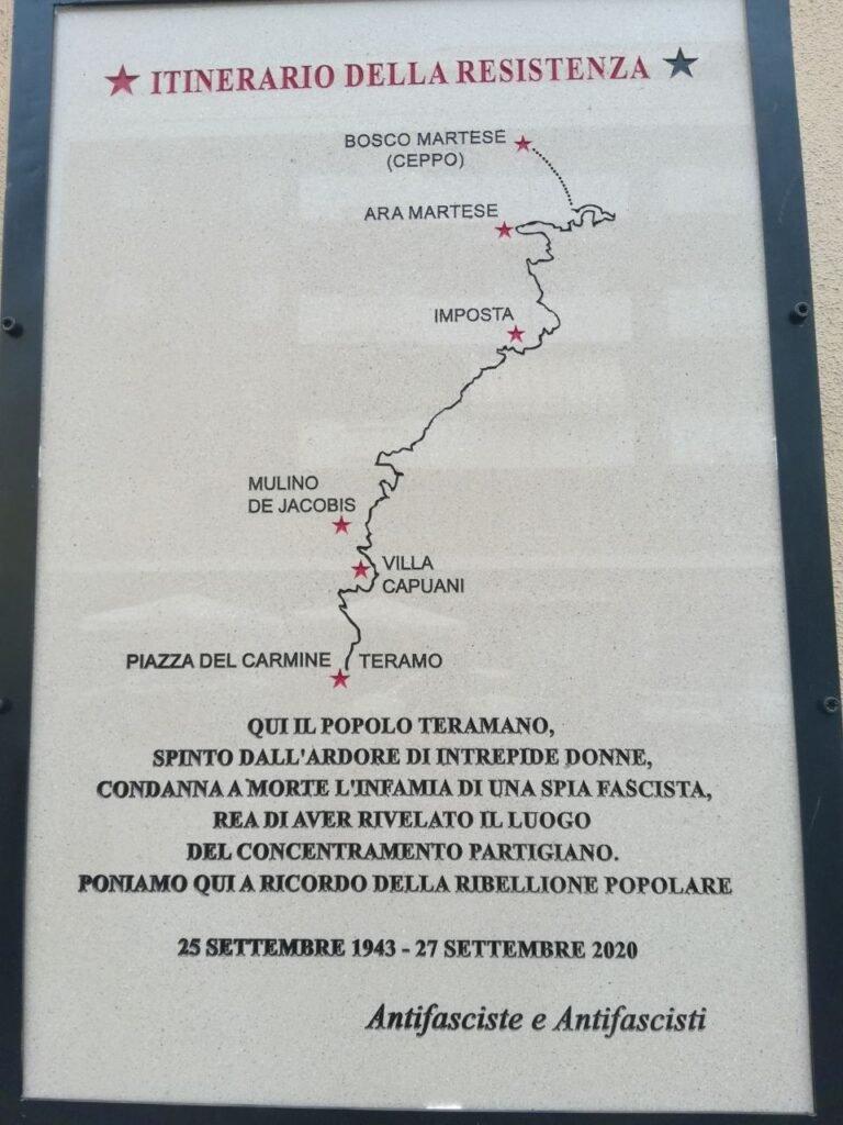 Teramo, targa in piazza del Carmine: le critiche di CasaPound al Sindaco D'Alberto