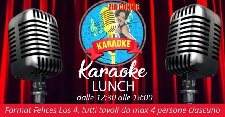 Karaoke LUNCH DOMENICA 8 NOVEMBRE al VILLA LUIGI in totale sicurezza!