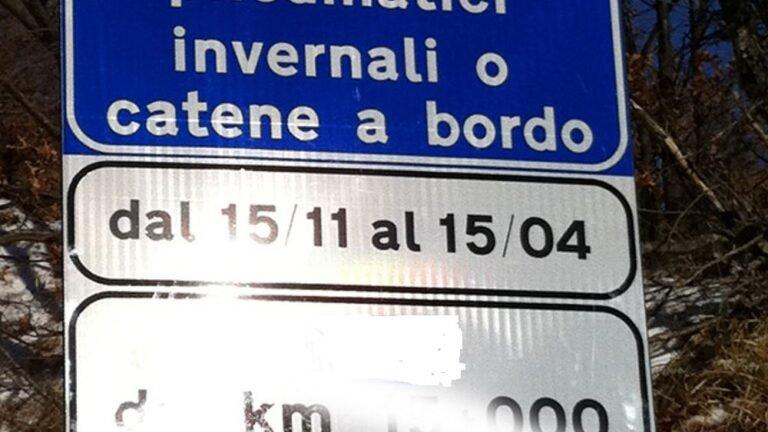 Dal 15 novembre obbligo di catene a bordo o pneumatici da neve: l'elenco delle strade in Abruzzo