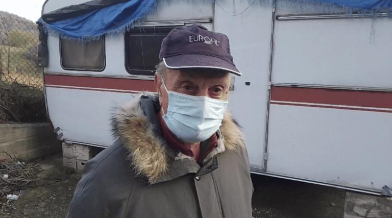 Teramo, la storia di Antonio: la vita in una roulotte senza luce né gas