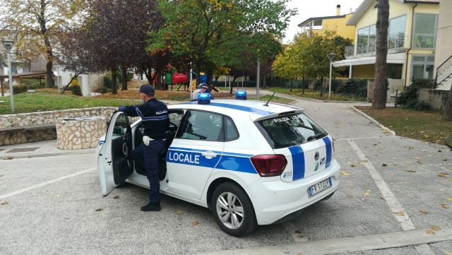 San Salvo, mascherine e assembramenti: controlli della Polizia Locale