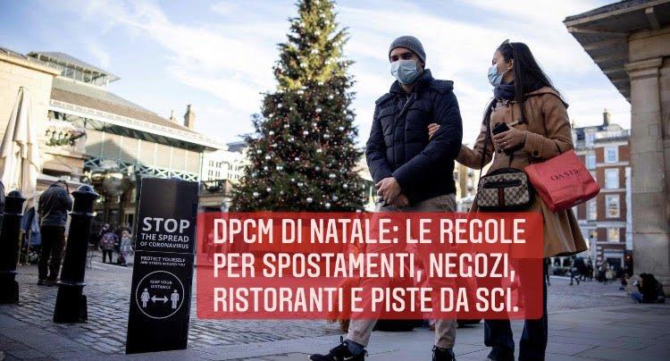 Dpcm di Natale, sì a spostamenti e ricongiungimenti. Restano chiusi impianti da sci e ristoranti.