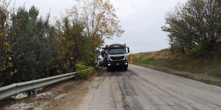 Roseto, nuovo asfalto sulla SP19 per Montepagano