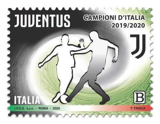Poste Italiane: un francobollo per la Juventus campione d'Italia
