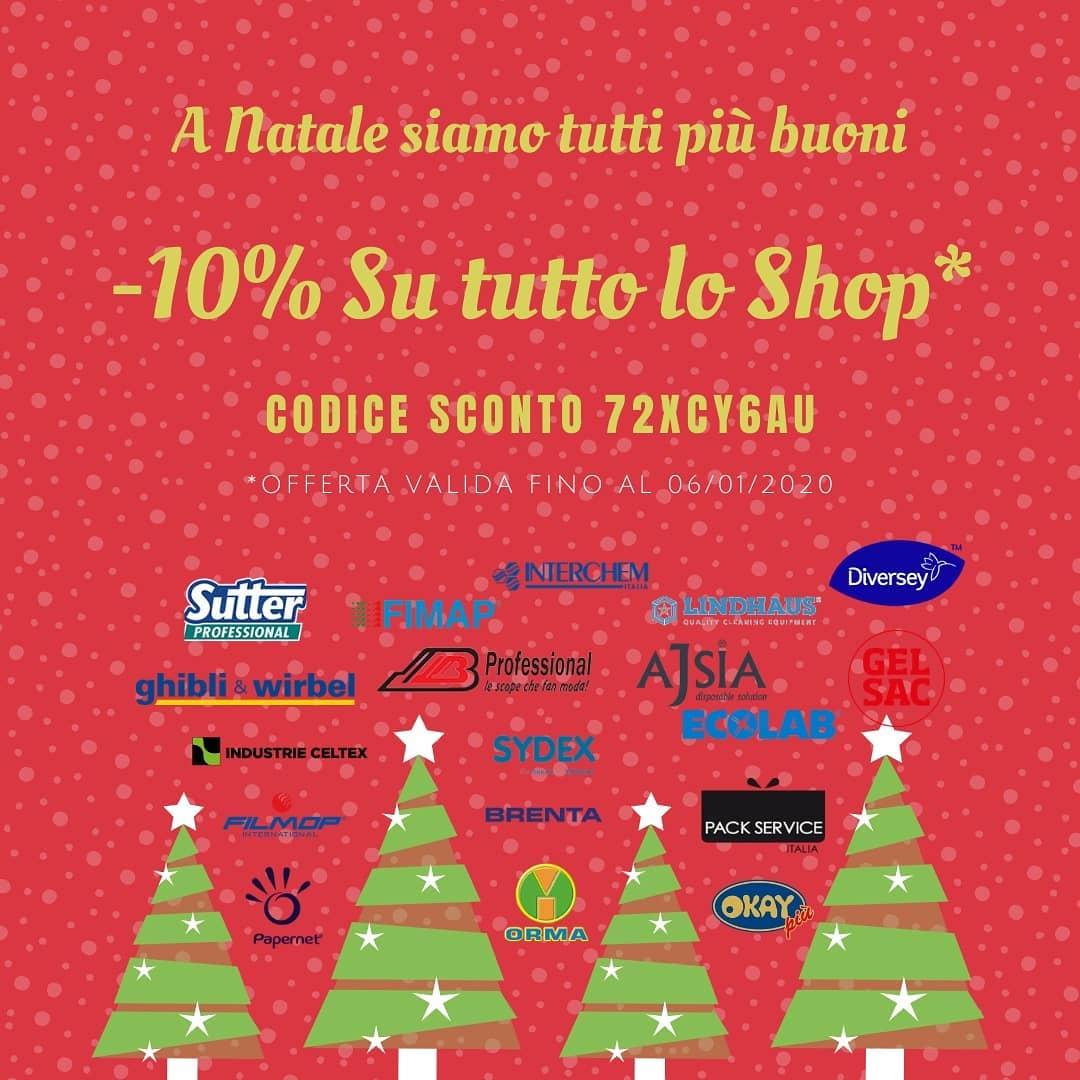 Da Therchimica sconti per tutto il periodo di Natale! Approfittane per acquistare prodotti igienizzanti!