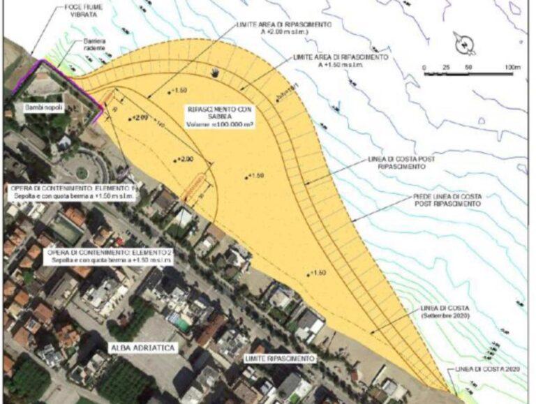Alba Adriatica, ecco come sarà la spiaggia di alimentazione: presentato il progetto