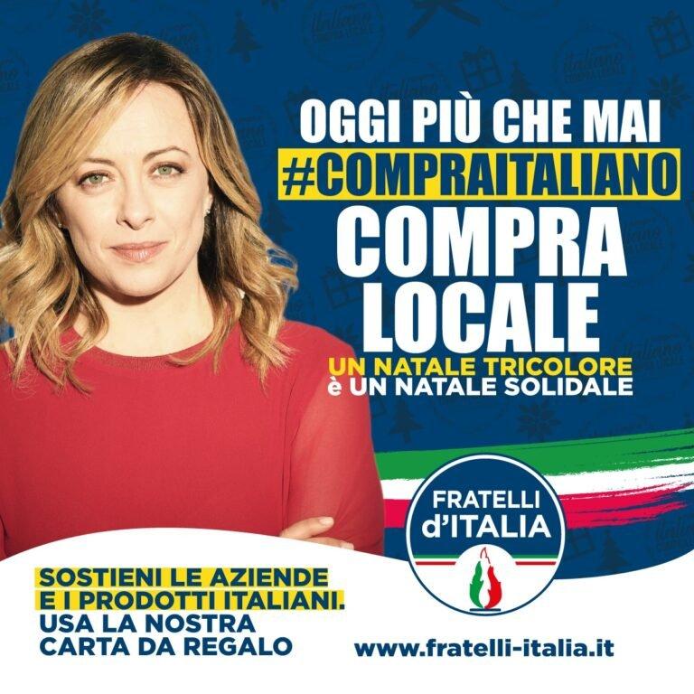 Roseto, mobiltazione di Fratelli d'Italia a sostegno delle aziende italiane e del commercio locale