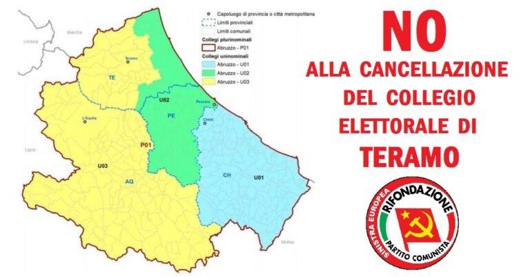 Cancellazione collegio elettorale di Teramo: Rifondazione Comunista contro il Governo