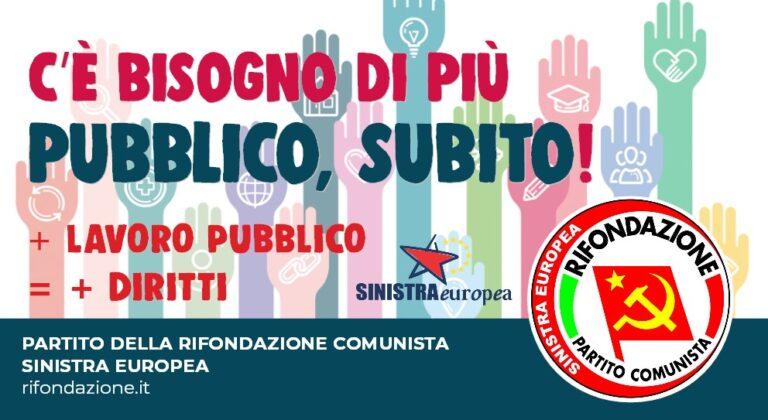 Teramo, Rifondazione Comunista sostiene lo sciopero dei dipendenti pubblici