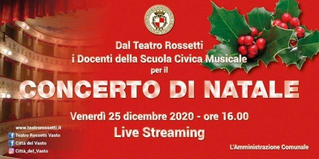 Vasto, il concerto di Natale live streaming dal Teatro Rossetti