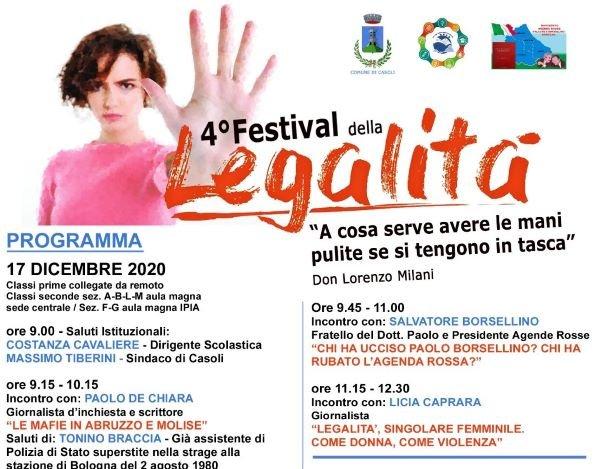 Salvatore Borsellino ed altri illustri ospiti al 4° festival della Legalità dell''Algeri Marino' di Casoli