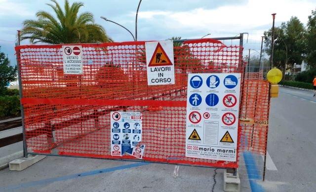 Al via il raddoppio della rete delle acque bianche a Vasto Marina per bloccare gli allagamenti
