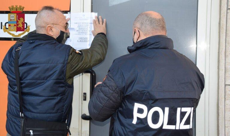 Pescara, scommesse senza licenza e locale aperto in zona rossa: multa da 60mila euro