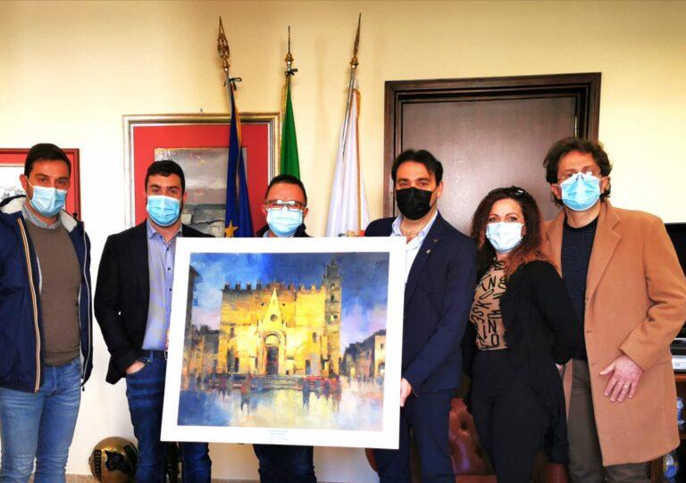 La bellezza di Teramo in un'opera donata alla città: il ringraziamento dopo Extemporamnia