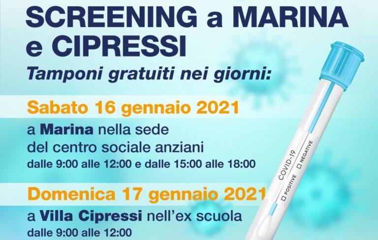 Città Sant'Angelo, screening Covid prorogato: test a Marina e Villa Cipressi