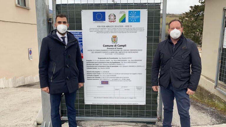 Campli, partiti i lavori di messa in sicurezza a Castelnuovo