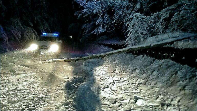 Ovindoli, furgone bloccato dalla neve: la polizia soccorre l'autista e consegna i farmaci FOTO