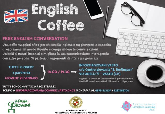 Vasto, InformaGiovani: riparte l'English Coffee