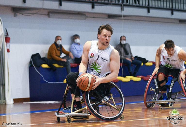Basket in carrozzina, l'Amiccaci riparte battendo Padova