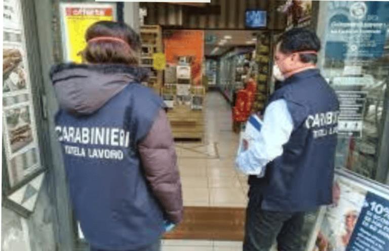 Lavoro nero e misure covid: scattano denunce e maxi-sanzioni a Martinsicuro (market) e Tortoreto (bar)