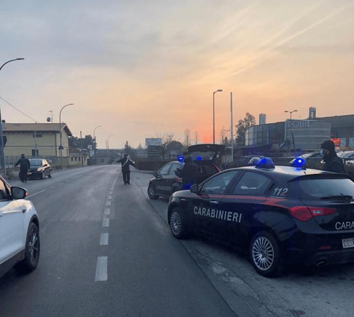 Spoltore, sorpreso dai carabinieri ad evadere durante i controlli anti-covid