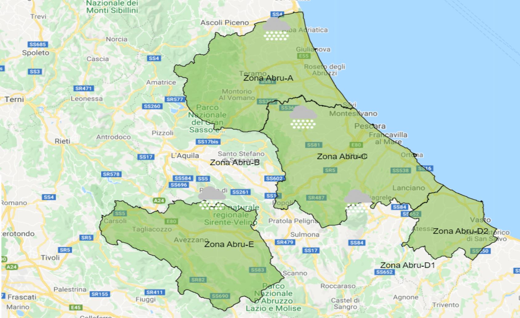 Cartina Dettagliata Abruzzo.Aria Gelida Dai Balcani Neve In Abruzzo Anche A Bassa Quota Ultime Notizie Cityrumors It News Ultima Ora