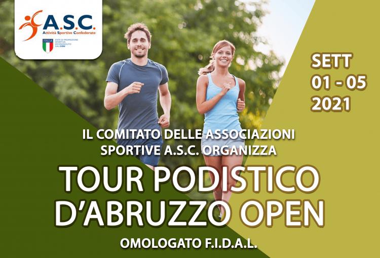 ASC a lavoro per il Tour podistico d'Abruzzo open: 5 tappe nelle 4 province
