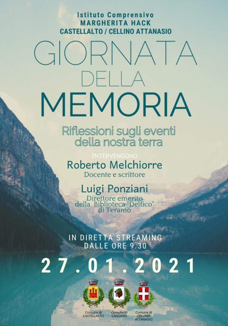 Istituto Comprensivo Castellalto-Cellino, Giornata della Memoria: riflessioni con Ponziani e Melchiorre