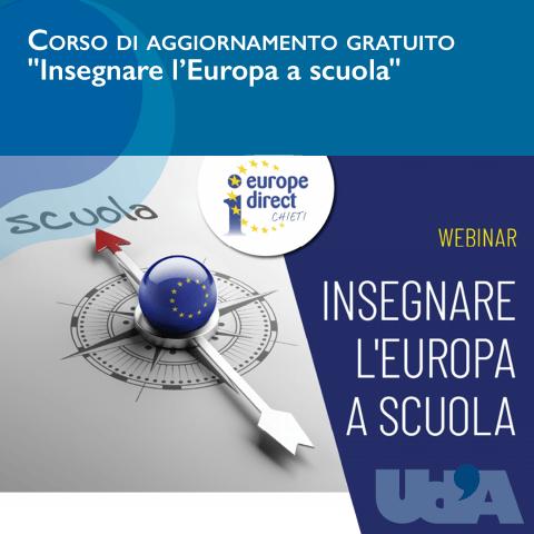 'Insegnare l'Europa a scuola', corso gratuito organizzato dal centro Europe Direct Chieti