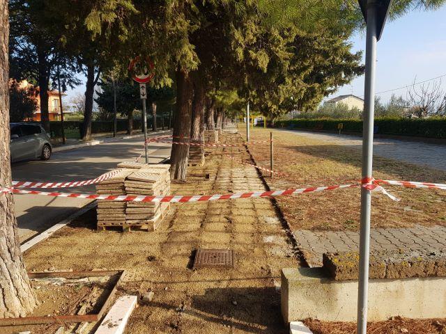 Fossacesia, interventi di messa in sicurezza dei marciapiedi di viale San Giovanni in Venere