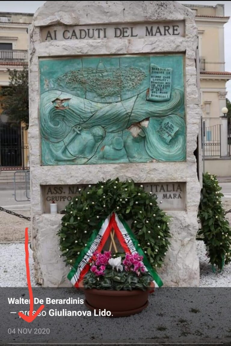 Giulianova, Monumento ai caduti del mare: botta e risposta tra sindaco e Il Cittadino Governante