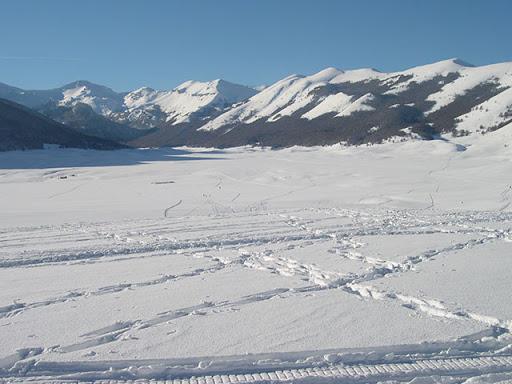 Gelo sugli altopiani abruzzesi: a Piani di Pezza -26°
