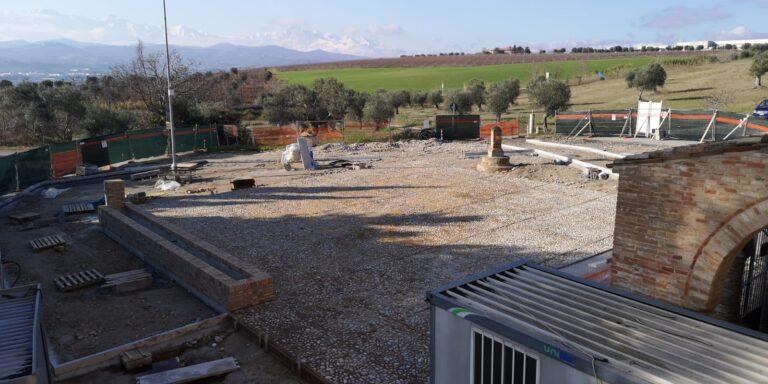 Morro d'Oro, i resti umani trovati non fermano i lavori della nuova piazza dell'Abbazia di Propezzano NOSTRO SERVIZIO
