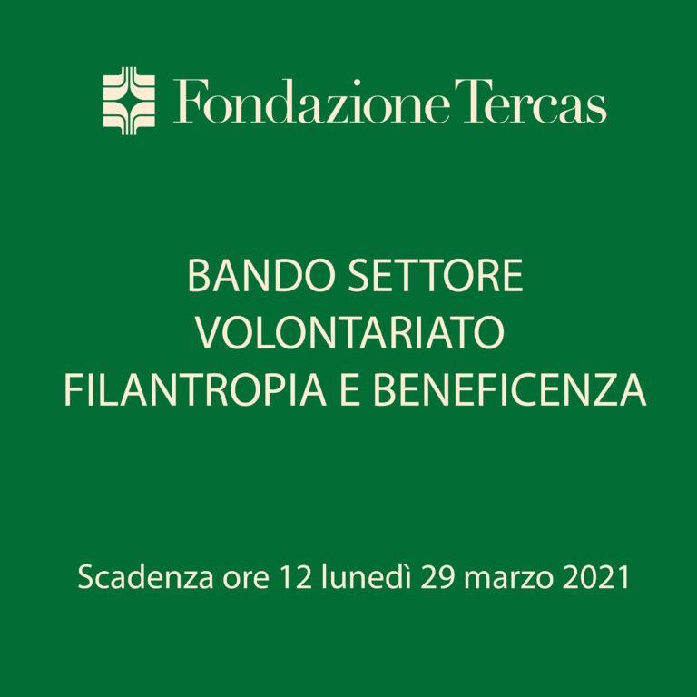 Volontariato, filantropia e beneficienza: pubblicato il bando della Fondazione Tercas