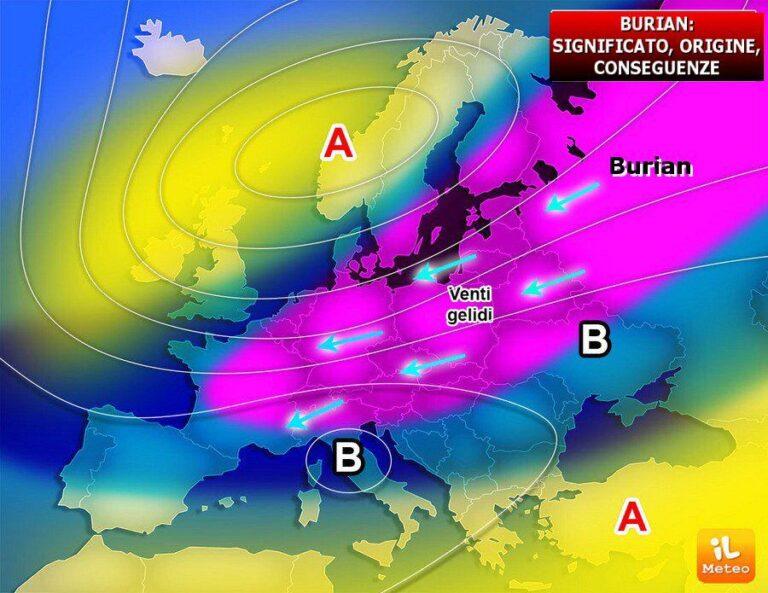 Burian in arrivo in Italia: fine settimana con gelo e neve