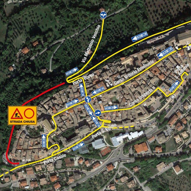Città Sant'Angelo: partono i lavori sulla circonvallazione-TUTTI I DIVIETI