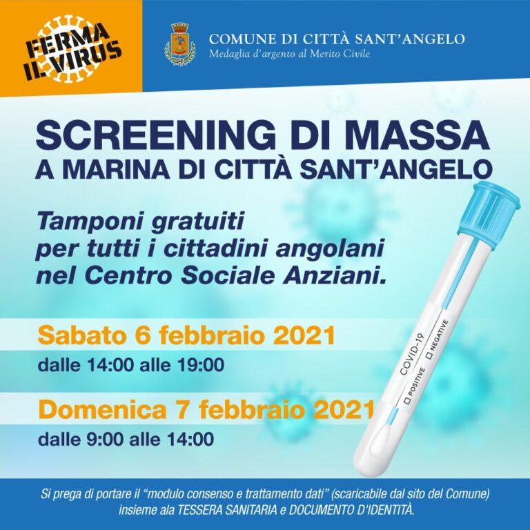 Città Sant'Angelo, riparte lo screening anti-covid: GLI ORARI