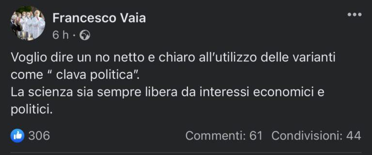 """Covid, Vaia (Spallanzani) contro Ricciardi: """"Lockdown non necessario"""""""
