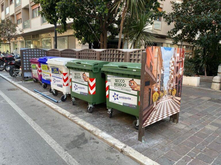 Pescara, scorci e panorami per nascondere i cassonetti-FOTO