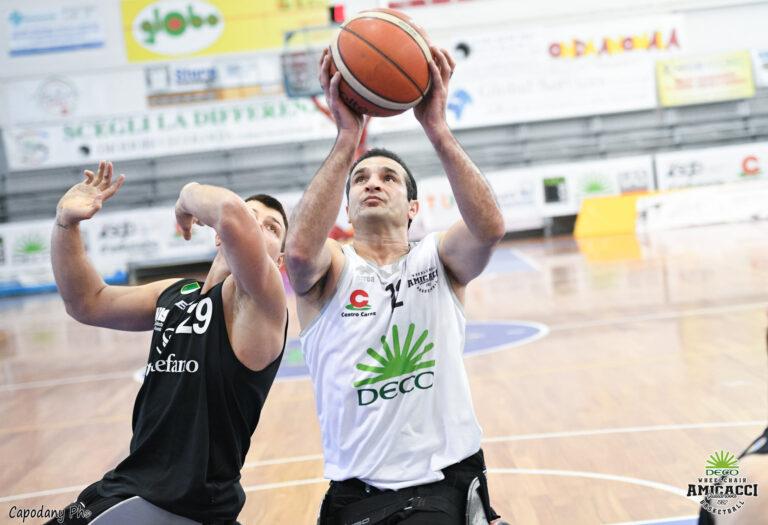 Basket in carrozzina, sconfitta indolore per l'Amicacci già ai play off contro Begamo