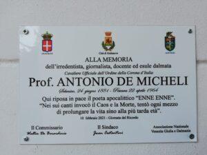 Giornata del Ricordo: Giulianova commemora il poeta Antonio De Micheli