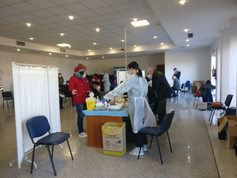 Covid19, il primo giorno di vaccinazioni ad Alba Adriatica FOTO VIDEO