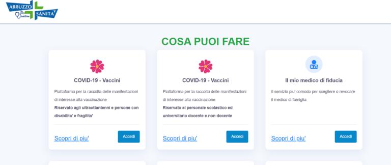 Vaccinazioni, in Abruzzo apre la piattaforma per i maturandi