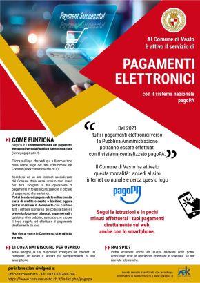 Vasto, attiva la piattaforma PagoPA che consente di effettuare pagamenti in modalità elettronica