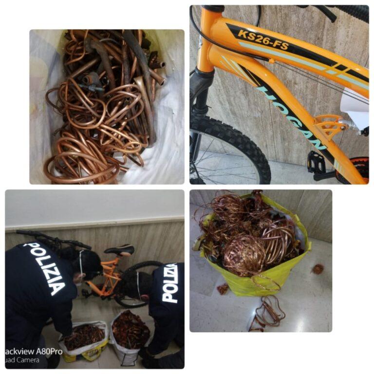 Montesilvano: riconosce la sua X-Box su internet e fa scoprire bici e chili di rame rubati-FOTO