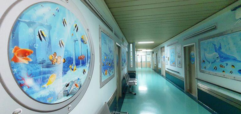 Ospedale Pescara, il reparto di Neonatologia diventa un acquario