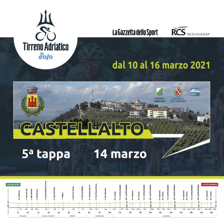 Castellalto si tinge di azzurro per la Tirreno-Adriatico