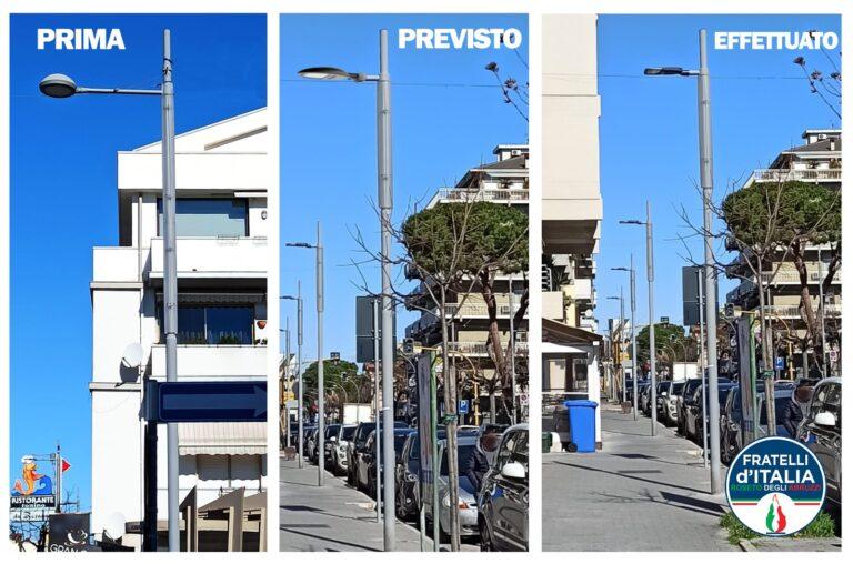 Roseto degli Abruzzi, i dubbi di Fratelli d'Italia sul project financing dell'illuminazione