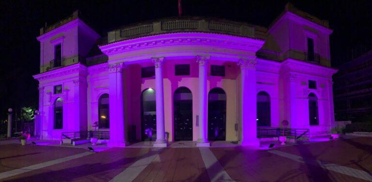 Giulianova, il Kursaal si tinge di Lilla per la campagna contro i Disturbi del Comportamento Alimentare